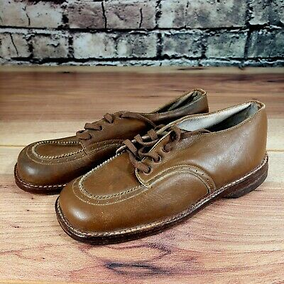 Vintage Tiger super service Toddler Boys brown Leather shoe juv 3