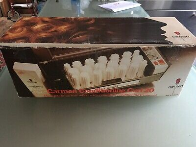 Vintage Carmen Conditioning Curl 20 C300 Heated Hair Curlers/Rollers Pins Boxed