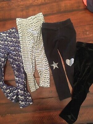 Jcrew Crewcuts Girls Lot Of Leggings Size 5 Nwot To Guc