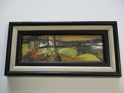 Mid Century Modern Painting Small Gem San Francisco Abstract Expressionism 1960