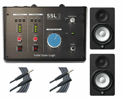 Solid State Logic SSL2 USB Audio Interface + 2x Yamaha HS5 + 2x Mogami Cables