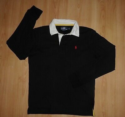 Mens Designer Polo Ralph Lauren Rugby Shirt Cotton Long Sleeve Sweater S / M