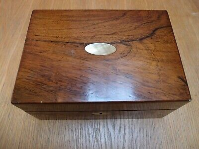 ANTIQUE VICTORIAN ROSEWOOD & MOTHER of PEARL INLAID FITTED JEWELLERY BOX