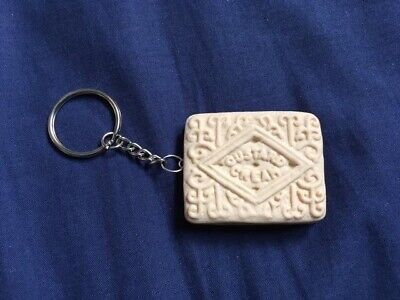 Novelty Polymer Clay Shortbread Inspired Biscuit Keyring//Bag Charm// Accessories