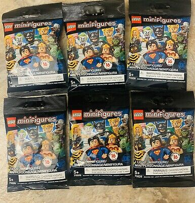 Lot of 6-LEGO Minifigures DC Super Heroes Minifigures Series 71026 SEALED