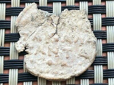 Ancient Byzantine Medieval Lead Seal With Inscriptions Circa 600-1000 Ad. Rare