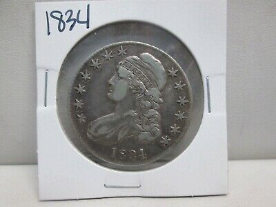 1834 Us Capped Bust Silver Half Dollar