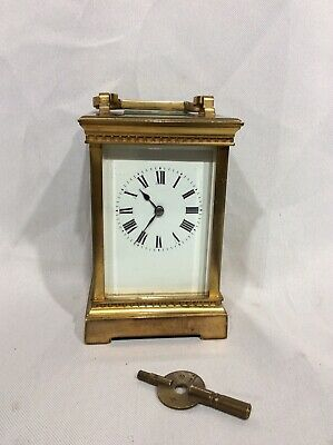 Rare Late 19th Century Chinese Sevres Porcelain Panel 8 Day Carriage Clock