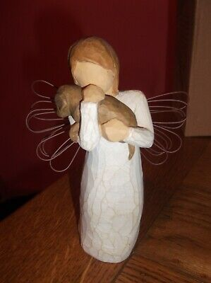 Willow Tree Angel Of Friendship Figurine Wings Dog