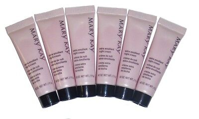 Lot of 6 Mary Kay Extra Emollient Night Cream ~ Travel Size ~ /