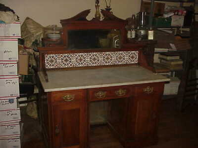 English Marble Top Wash Stand,Desk ,Backers Table, Other