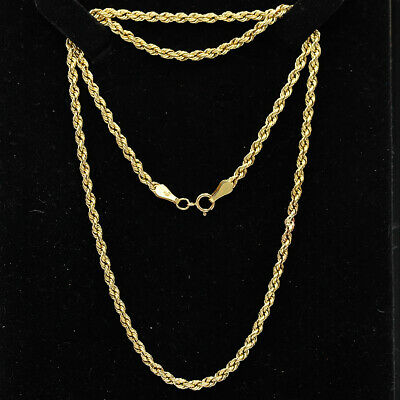 SOLID 9 CT YELLOW GOLD /& SILVER 20 inch PRINCE OF WALES CHAIN NECKLACE 2.7 grams