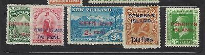 PENRHYN (New Zealand) n° 1*, 2*, 3*, 4* et 7*  MH*   1902  5 timbres