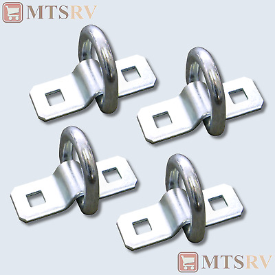 CRB D-Ring Bolt-On Surface Mount NEW 5K Zinc-Plated Tie-Down SR15-8-PACK