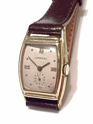Vintage Early 10k Gold Filled LONGINES H16 D10 Mens Dress Watch