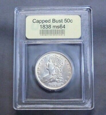 ✰ 1838 - P Capped Bust Silver Half Dollar | Mint State | BU ✰