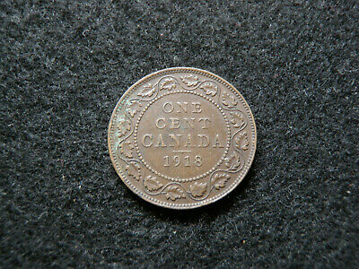 1918 Canadian Large Cent - Canada Penny Copper Coin Old Rare Money Barter