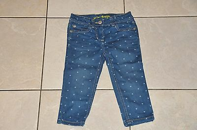Girls Mini Boden Denim 3/4 Shorts Cropped Jeans Size 4 Years Bnwot