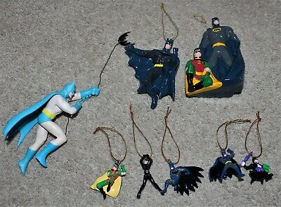 Lot Kurt Adler Hallmark Santas World BATMAN ROBIN Christmas Ornament DC Comics