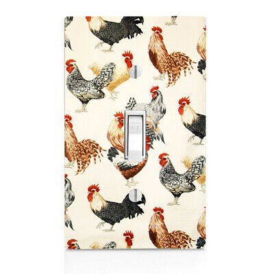Roosters, Kitchen ,Home Decor, Wall Plate, Toggle, Decor ,Switch Plate Cover