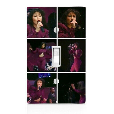 Selena, Texas Singer Light Switch Cover, Nightlight, Knob,Outlet, Bedroom,Double