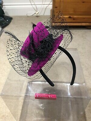 Purple Aliceband Fascinator Feathers Hat Wedding Races