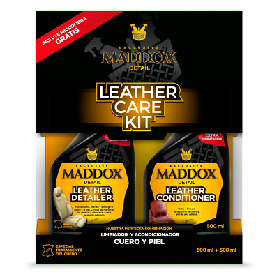 Maddox Detail 30401 Leather Care Kit-Cleaner and Conditioner. It Includes a Free