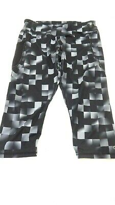 Champion Women's Grey And Black Polyester Cropped Athletic Pants Size Xl