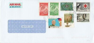 Rep. Of China Taiwan Commercial Envelope 4 Red Cross, Lion Club, Rotary Industry