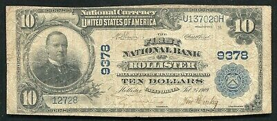 1902 $10 The First National Bank Of Hollister, Ca National Currency Ch. #9378