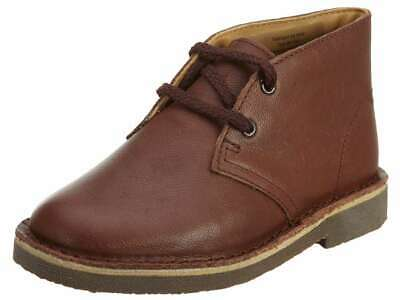 Clarks Baby Boy Desertbootfstb Lace Up Ankle High, Chestnut,  Size Toddler 7.5