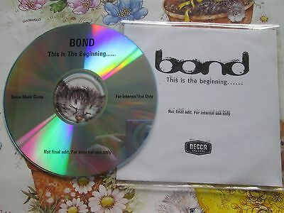 BOND This is the Beginning DECCA 4 track UK Promo internal use CD Single