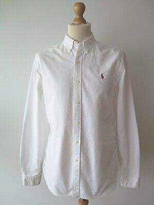 Polo Ralph Lauren Men's Long Sleeve Button Down Slim Fit Shirt Size L Immaculate