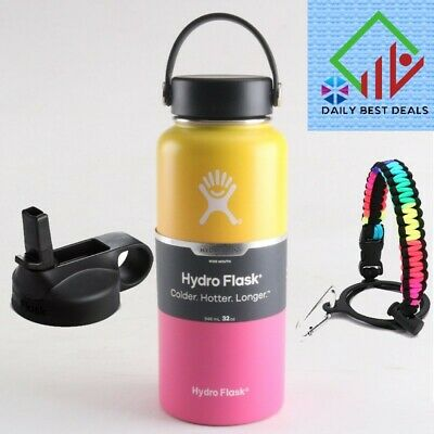 Hydro  Flask 32oz  Wide Mouth Stainles Steel Bottle  Flex Cap Vaccum  Straw lid