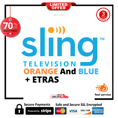 SlingTV  Orange And Blue+ Extras | 2 years warranty Fast delivery