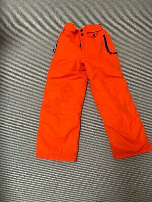 MINI BODEN SKIING TROUSERS SALOPETTES  SKI PANTS ORANGE 6-7 girls boys