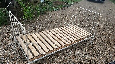 Antique French Campaign Bed / Day Bed. Folding