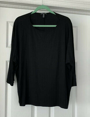 Eileen Fisher Top In Black - Size X-Large