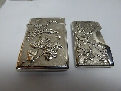 Solid Silver Chinese Card Holder.h/M