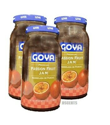 3 Pack Goya Premium Passion Fruit Jam Mermelada De Parcha 1 Ounce Each Bottle