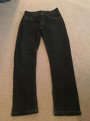 Boys Regular Fit Black Jeans Age 14 Years