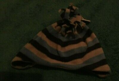 New With Tags 12-24 Mths Blue & Grey Stripe Hat Cherokee Soft & Fleecy