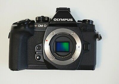 Olympus OM-D EM-1 black with accessories, bag, flash and extra batteries