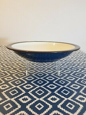 """Denby Boston Large Rimmed Soup Bowls Rare 8 3/8"""" Free Shipping 2nd Quality"""