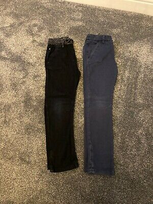 Next Boys Chinos Navy's D Black  Age 7 And 7plus