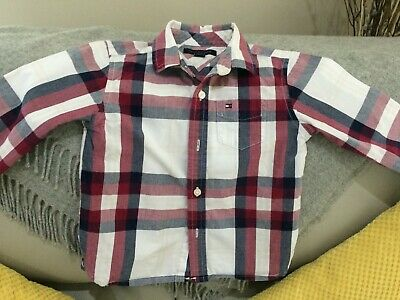 Tommy Hilfiger Boys Cotton  Checked Shirt Age 2