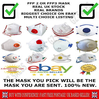 Dust Mask Anti virus Flu Fumes Filter Safety Face Higher Protection FFP2 or FFP3