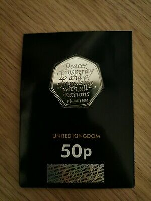 Brand New Uncirculated 2020 Brexit 50p Coin from Royal Mint