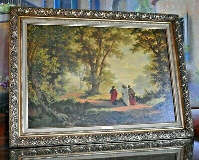 Home Art wall decor Print oil painting Robert Zund The Road to Emmaus Canvas yi9