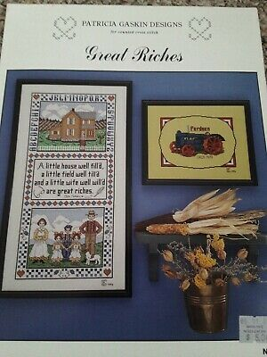 Patricia Gaskin Designs Crossstitch Leaflet GREAT RICHES